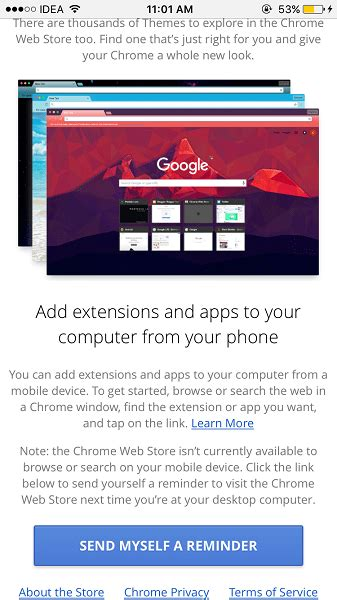chrome mobile extensions how to install chrome extensions remotely from iphone and