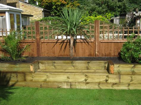 Railway Sleepers   Small gardes   Pinterest   Raised bed