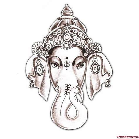 ganesha elephant tattoo grey ink elephant head lord ganesha tattoo design tattoo