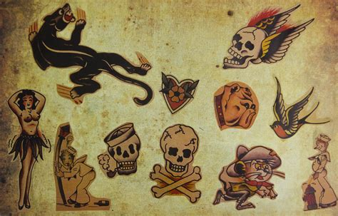 1000 images about ink on sailor jerry skull flash www imgkid the