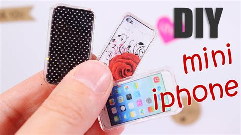 d i y diy miniature iphone design your phone case youtube
