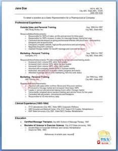 sale representative resume