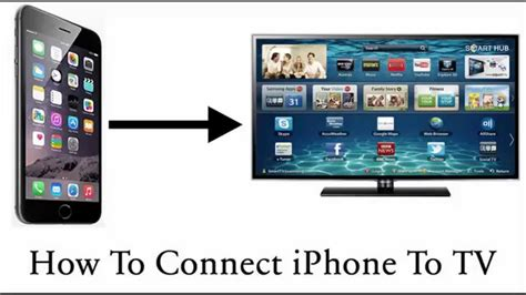 how to connect iphone to tv
