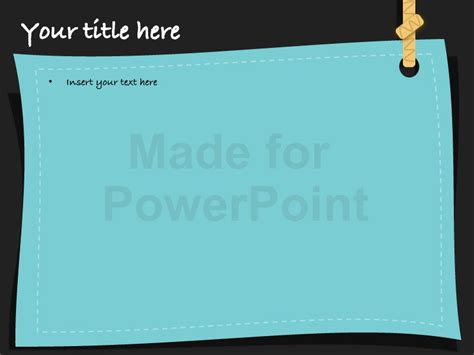 Post It Notes Template For Powerpoint Presentations Editable Post It Note Template