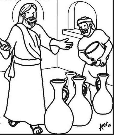 wedding at cana coloring pages