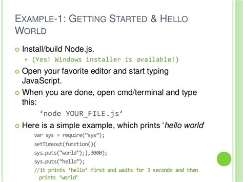 simple node js hello world introduction to node js