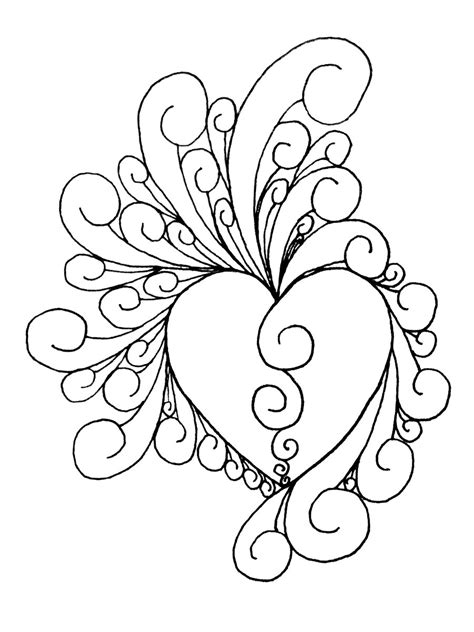 Intricate Heart Coloring Pages | heart of intricate by shinobitokobot on deviantart