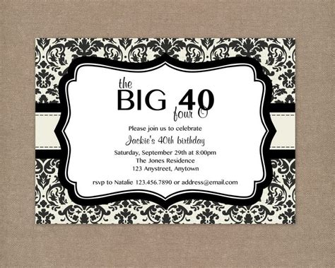40th birthday invitation templates free top 18 40th birthday invitations for you