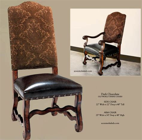 tuscan dining room chairs tuscan dining room chairs in dark chocolate upholstery