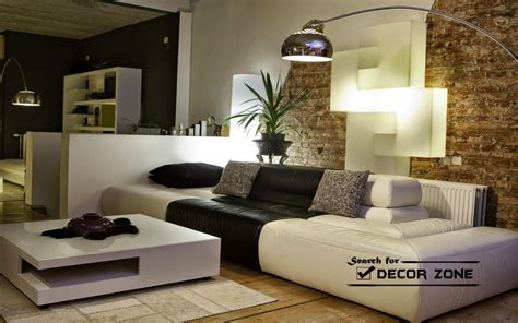 Living Rooms With White Sofas | black and white living room furniture modern house
