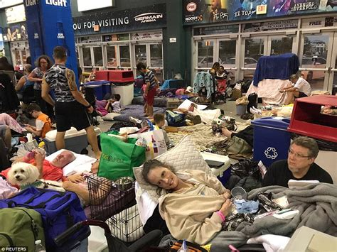 shelters in florida inside florida s shelters as hurricane irma ravages state daily mail