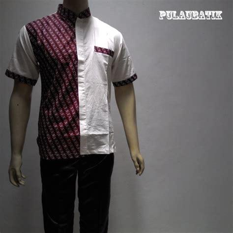 Baju Batik Pria Slimfit Bahan Katun model batik gaul untuk pria dengan bahan katun yang motifnya modern dan keren model baju batik