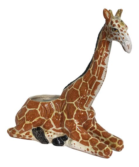 giraffe planter italian terra cotta giraffe planter chairish