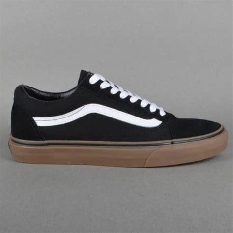 Vans Oldskool Black Gums vans skool skate shoes black gum skate shoes from skate store uk