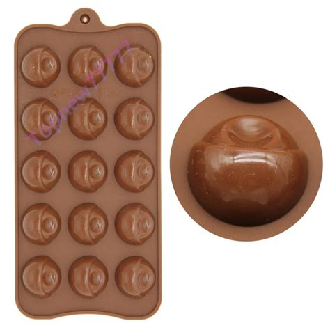 Cetakan Silicon New 15 Holes 15 bead shape chocolate silicone mold or cube tray cake mould family baking diy