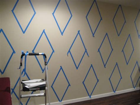 pattern for a wall how to paint a diamond pattern on your wall maison d or