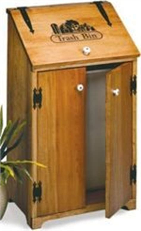 country woodworking projects wooden kitchen trash can woodworking plans and information