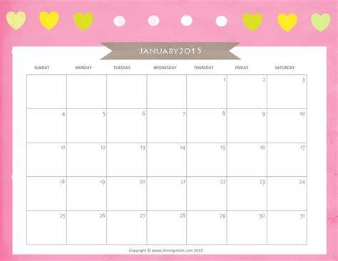 printable month calendar january 2015 amazing calendar for year 2015 designs
