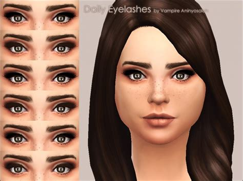 mod the sims acute eyeliner 10 styles daily eyelashes 3 styles 2 colors by vire aninyosaloh