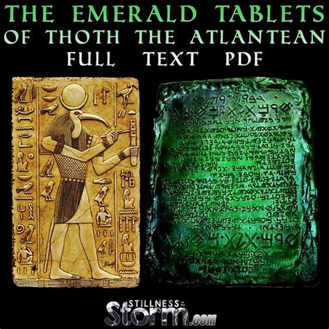full text of the book of the ancient and accepted stillness in the storm the emerald tablets of thoth the