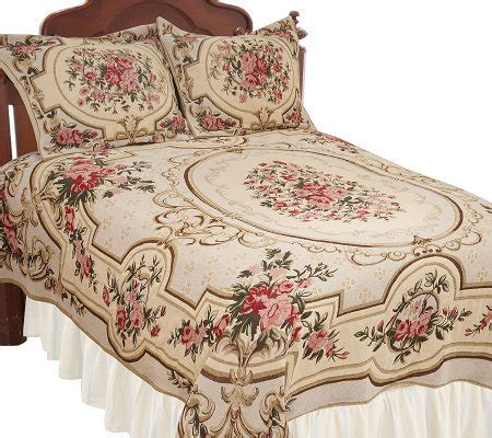 floral coverlet amadeus antique floral tapestry coverlet and sham set