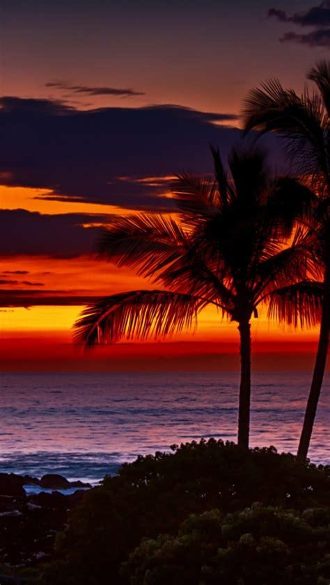 wallpaper iphone 6 hawaii hawaii orange sunset iphone 5 wallpaper スマホ壁紙 iphone待受画像