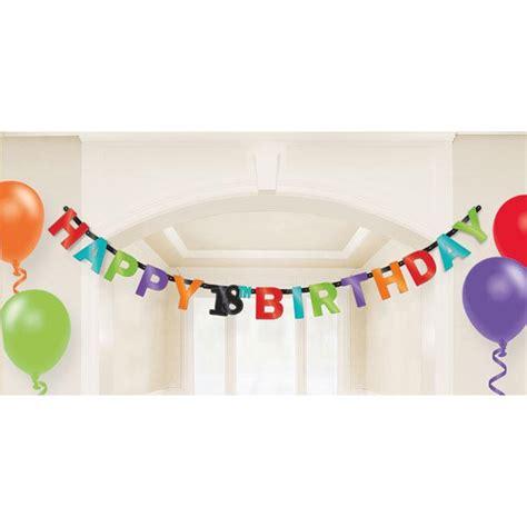 Girlande 18 Geburtstag by Buchstaben Girlande Quot 18 Geburtstag Zickzackspa 223 Quot 2 13 M