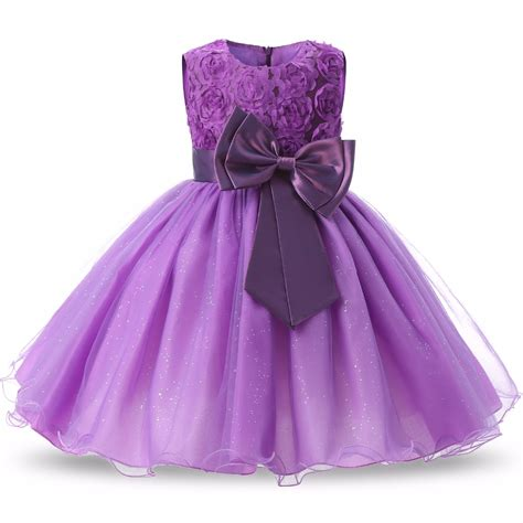 Dress Anak Flower Big flower toddler dress big bow children clothing gown clothes tulle dresses