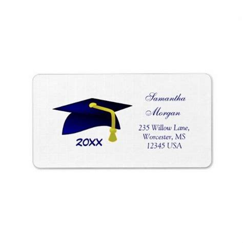 graduation labels template free graduation mortar personalized address labels graduation