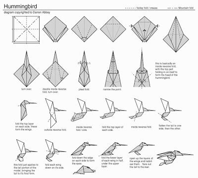 How To Make A Hummingbird Out Of Paper - my daily day tutorial no 3 and origami hummingbirds