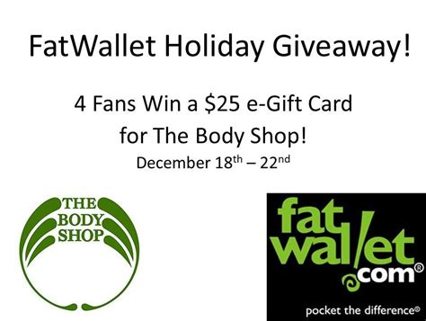 Body Shop Gift Card - enter to win 4 winners 25 00 the body shop giftcards