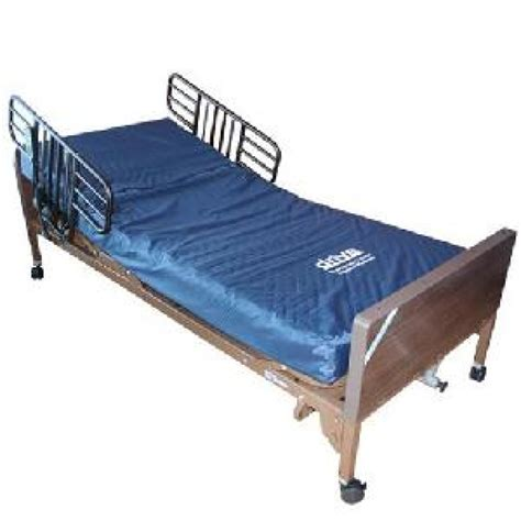 hospital bed mattress pre owned fully electric hospital bed with mattress safety rails vital mobility