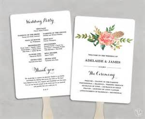 free wedding fan templates printable wedding program template fan wedding programs