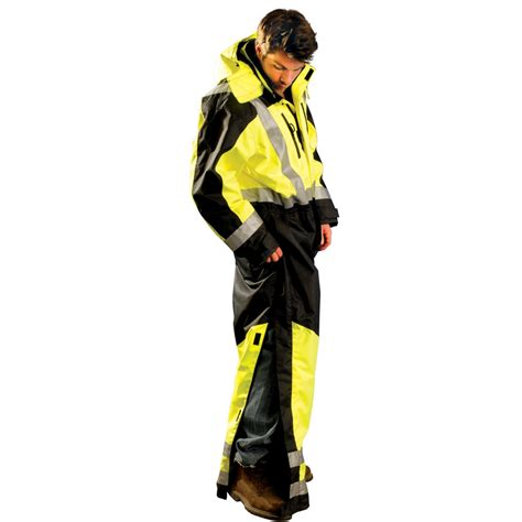 Jaket Cvl occunomix sp cvl speed collection class 3 cold weather coveralls yellow black fullsource