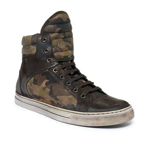 kenneth cole high top sneakers kenneth cole header camo hi top sneakers in green