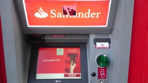 banco santander cajeros c 225 mara esp 237 a en cajero de santander