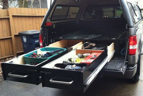 truck bed organizer diy build drawers in your truck bed for heavy duty tool