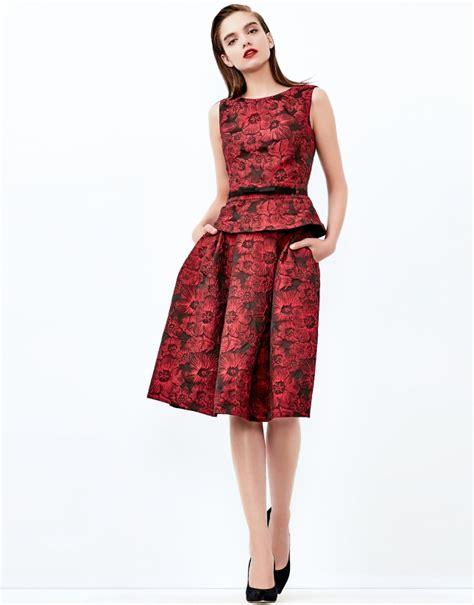 burgundy jacquard midi skirt skirts roberto verino