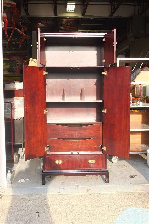 tall narrow armoire pair of tall narrow armoires by henredon at 1stdibs