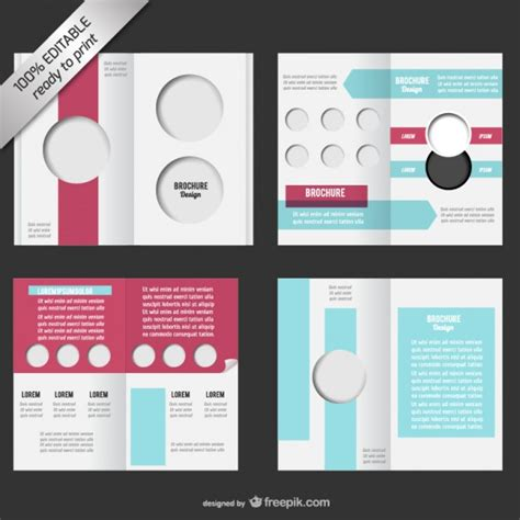 free editable templates for brochures bi fold editable brochure mock up vector free download