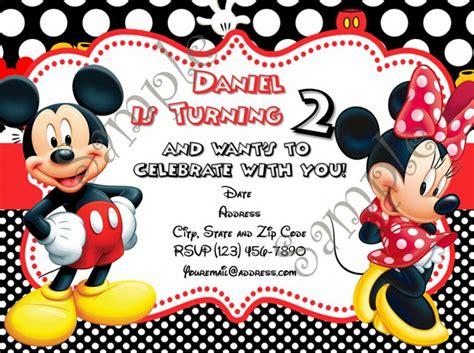 Undangan Ulang Tahun Birthday Invitation Minnie Mouse mickey and minnie birthday invitations wblqual