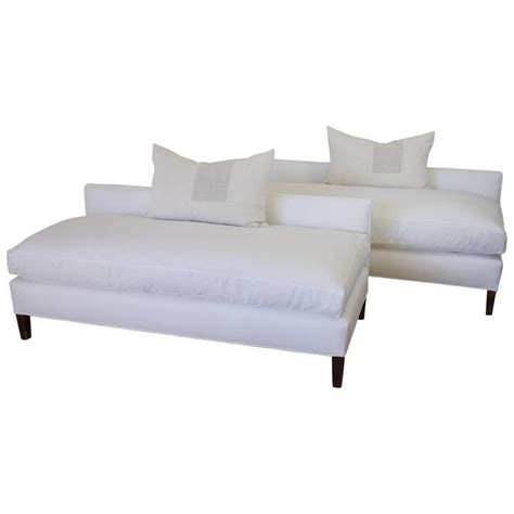 upholstered bench cushions mid century modern white linen upholstered bench with down