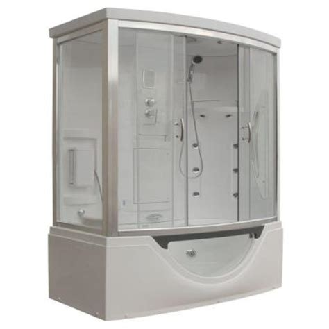 bathtub enclosures home depot steam planet hudson plus 72 in x 39 in x 88 in steam
