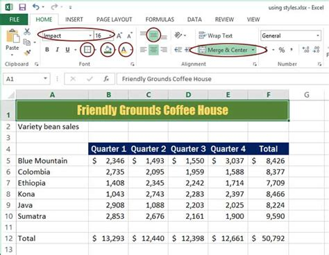 Formatting Excel Spreadsheet by How To Format Your Spreadsheets In Excel With Styles