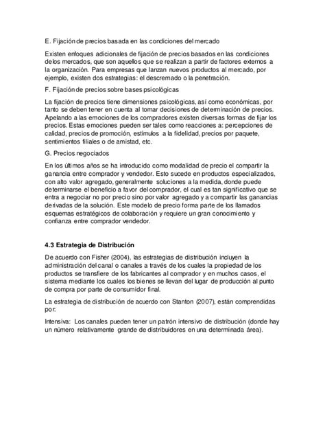 Modelo Curriculum Niñera Unidad 4 Estrategias De Mercadotecnia