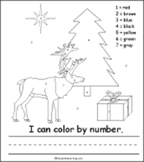 Christmas Tree Activity Early Reader Book Color By Number Tree Color By Number Coloring Pages