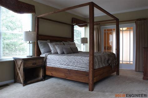 bedroom furniture building plans canopy bed king size 187 rogue engineer