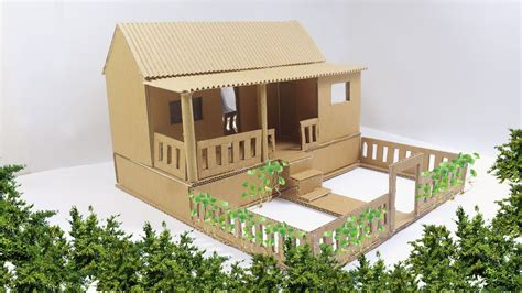 house project awesome house diy from cardboard house project youtube