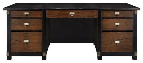 arhaus telegraph executive desk telegraph executive desk traditional desks and hutches