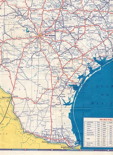 map of texas roads texasfreeway gt statewide gt historic information gt road maps